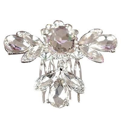 Hair Comb Pin Clip - TOOGOO(R)Bridal Wedding Crystal Rhinestone Flower Hair Clip Comb Pin Headband Diamond dragonfly