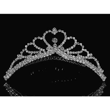 SparklyCrystal Princess Bridal Wedding Tiara Comb 48105 by SparklyCrystal