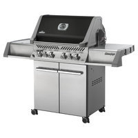 Napoleon P500RSIBPK-A Prestige Liquid Propane Grill with Up to 78 500 BTUs 6 Burners 900 Sq. In. Cooking Area LIFT EASE Rotisserie Kit and Infrared SIZZLE ZONE Side