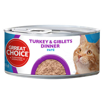 Grreat Choice Turkey and Giblets Pate Dinner Canned Cat Food