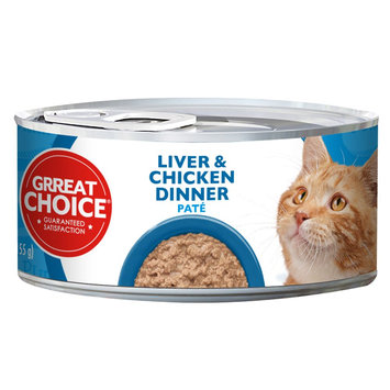 Grreat Choice Liver and Chicken Pate Dinner Canned Cat Food