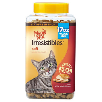Meow Mix Irresistibles Soft with Chicken Cat Treats 17 oz