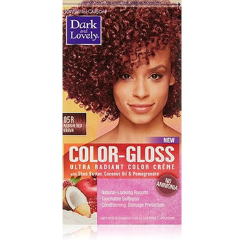 Dark and Lovely Color-Gloss Ultra Radiant Color Creme, Medium Red Brown 1.0 ea(pack of 2)