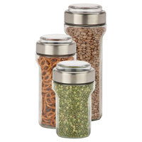Honey Can Do Honey-Can-Do Store and Measure Set 3-pc. Stainless Steel, Light Clear