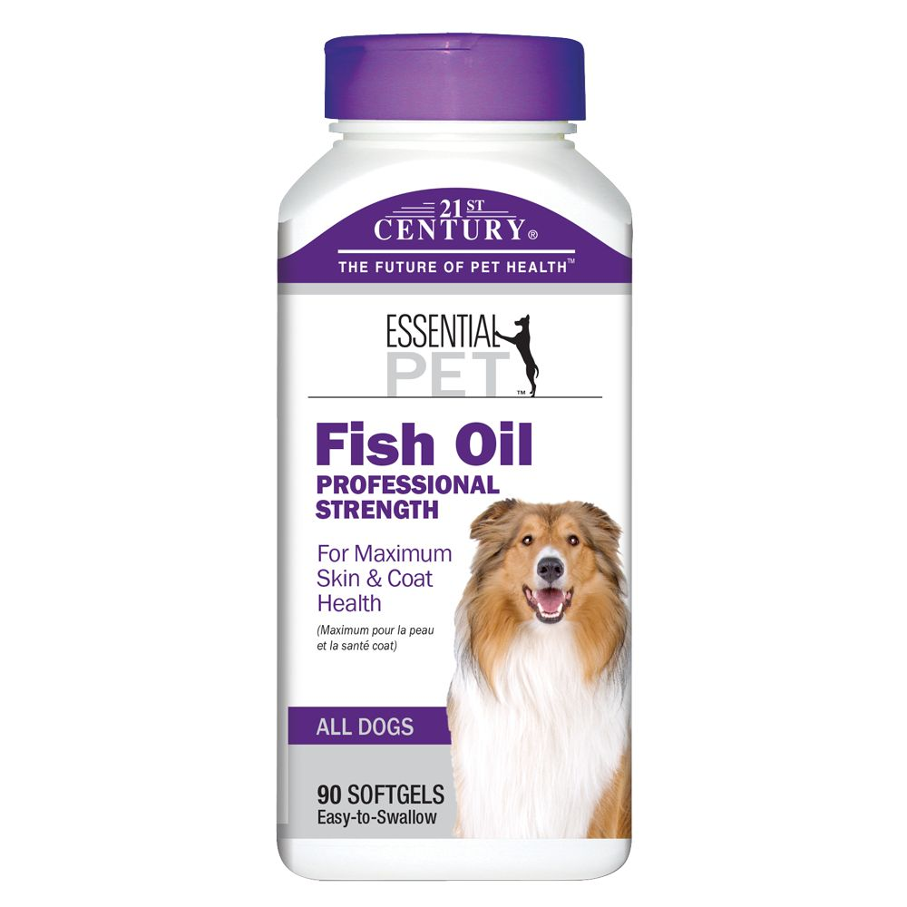 21st Century Fish Oil Professional Strength Dog Skin and Coat Health size: 90 Count