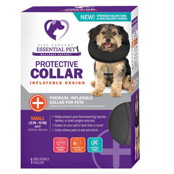 21st Century Inflatable Protective Pet Collar size: Small, Blue