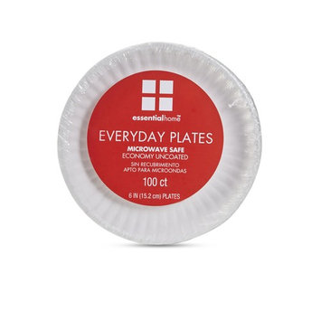 Essential Home Everyday Paper Plates - 100 Count
