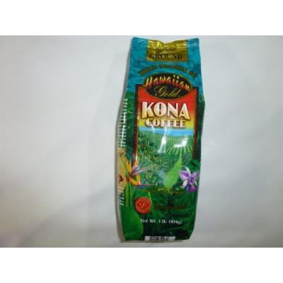 Kona Hawaiian Gold Kona Coffee, Vanilla Macadamia Nut Ground Coffee 1 Lb