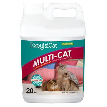 ExquisiCat® Multi-Cat Clumping Scoop Cat Litter size: 20 Lb
