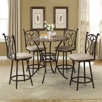 Homesource Home Source Pedestal Counter Stool ( Case Pack 4)