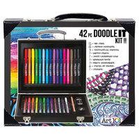 Art 101 Doodle It Wood Kit, 42pc, Multi-Colored