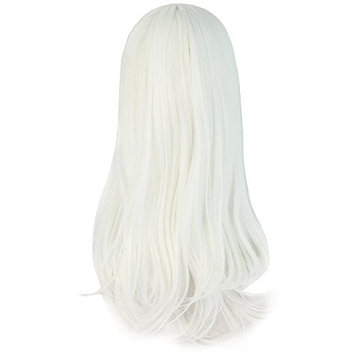 Demarkt White Cosplay Costume Wig Stylish Long Straight Cosplay Party Wig