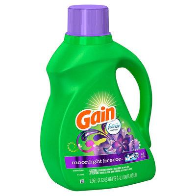 Gain 2X Moonlight Breeze Hec Liquid Laundry Detergent, 64ld, 100oz