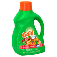Gain 2X Tropical Sunrise Hec Liquid Laundry Detergent, 64 Loads, 100 Fl oz