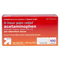 Acetaminophen 650mg 8hr Pain Reliever/Fever Reducer Extended Release Caplets 100ct - up & up