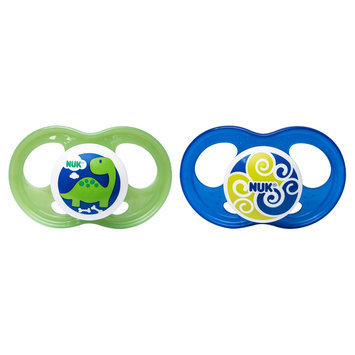 NUK Breeze Orthodontic 6-18 Month 2 Pack Pacifiers - Boy