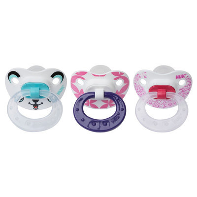 NUK Orthodontic 6-18 Month 3 Pack Pacifiers Value Pack - Boy