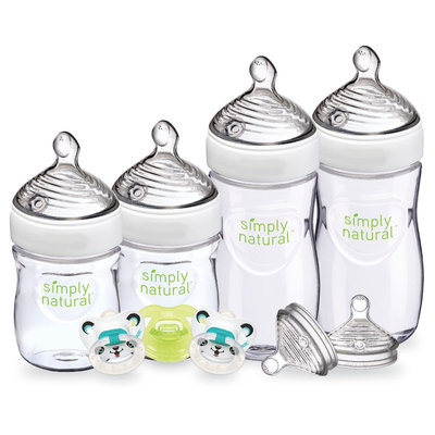 Nuk Simply Natural Bottle Gift Set 2Pk, Clear