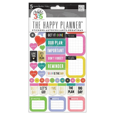 Create 365 Planner Stickers Everyday Reminders-Asst Color/Sizes, Multi-Colored