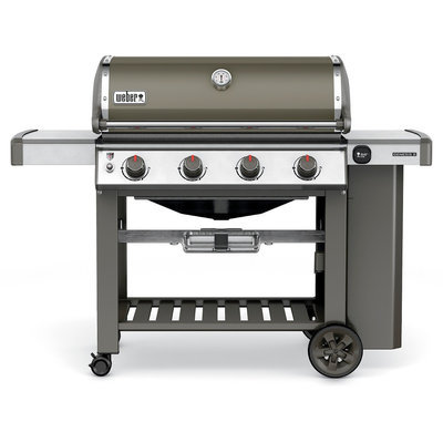 Weber Genesis II E-410 4-Burner Propane Gas Grill in Smoke (Grey)