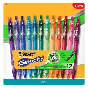 Bic Gel-ocity Gel Pens, 12ct - Multicolor, Multi-Colored