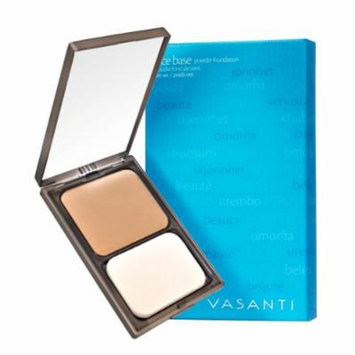 Vasanti Face Base Powder Foundation with Mineral Pigments - Oil-Free, Paraben-Free (V8 - Medium Deep - Warm)