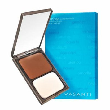 Vasanti Face Base Powder Foundation with Mineral Pigments - Oil-Free, Paraben-Free (V15 - Deep Rich)