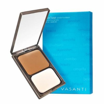 Vasanti Face Base Powder Foundation with Mineral Pigments - Oil-Free, Paraben-Free (V12 - Deep Golden)