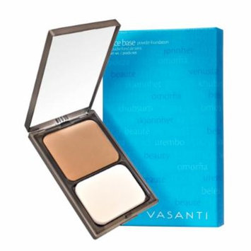Vasanti Face Base Powder Foundation with Mineral Pigments - Oil-Free, Paraben-Free (V10 - Medium Deep - Golden)