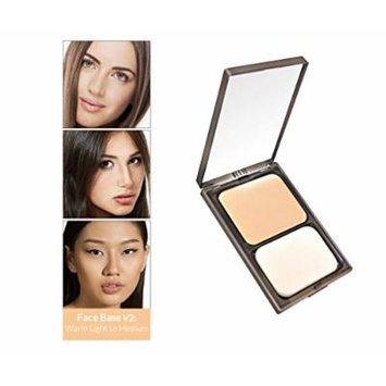 Vasanti Face Base Powder Foundation with Mineral Pigments - Oil-Free, Paraben-Free (V2 - Warm Light to Medium)