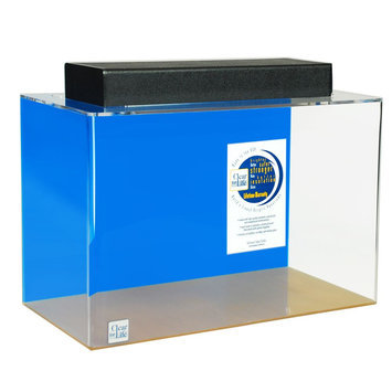 Clear-For-Life 10 Gallon Rectangle Aquarium size: 10 gal, Blue