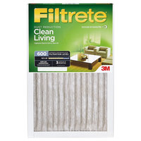 Filtrete - 14 in x 14 in x 1 in - Dust Reduction Air Filter - White