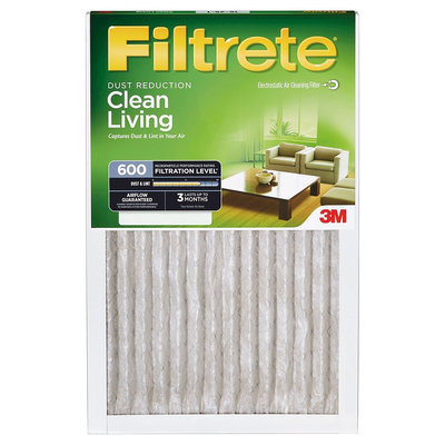Filtrete - 12 in x 12 in x 1 in - Dust Reduction Air Filter - White