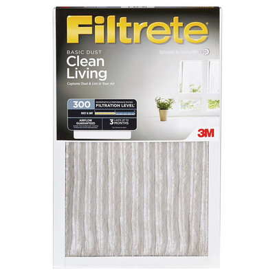 Filtrete - 14 in x 24 in x 1 in - Basic Dust Air Filter - White