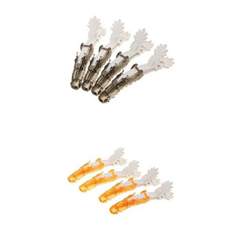 MagiDeal 8Pcs Hairdressing Salon Sectioning Barrette Clamps Hair Grips Clips Accessories