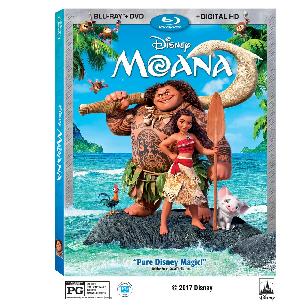 Moana (Blu-ray + Dvd + Digital) 2 Disc