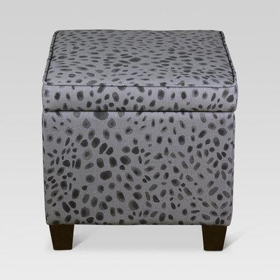 Threshold, Fairland Square Storage Ottoman - Grey Cheetah