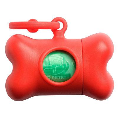 Petego Bon Ton Classic Dog Waste Bag Dispenser Color: Red