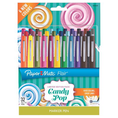Paper-mate Paper Mate Flair Marker Pens Candy Pop, 32ct, Multi-Colored