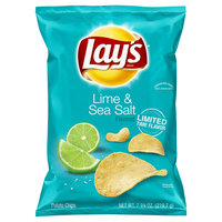Lay's Lime & Sea Salt Flavored Potato Chips - 7.75oz