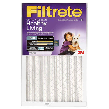 Filtretea - 14 In X 25 In X 1 In - Ultra Allergen Air Filter - White