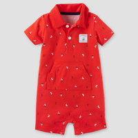 Just One You Made by Carter's Baby Boys' 1pc Captain Adorable Polo Romper - Red 18M