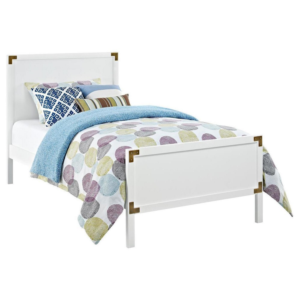 Miles Campaign Kids Bed - Twin - White - Baby Relax