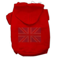 Mirage Pet Products 5416 MDRD British Flag Hoodies Red M 12