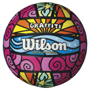 Wilson Graffiti Volleyball, Multi-Colored