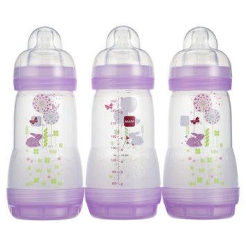 Mam Anti-Colic Bottle, 9oz, 3-Ct, Pink