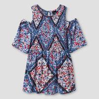 Girls' Smocked Blouse Art Class - Blue XL