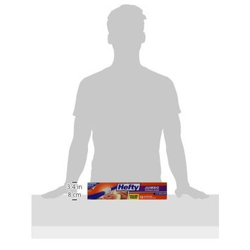 Hefty One Zip 2.5 Gallon Jumbo Bags 12 Count Boxes (Pack of 3) 36 Bags Total