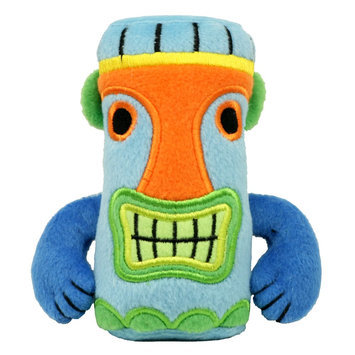 Hip Doggie Tiki Squeaker Dog Toy size: Small/Medium/Large, Blue