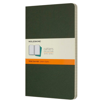 Moleskine 3pk Ruled Notebooks - Green Cahier Collection, Large